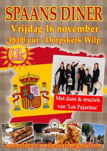 Poster WSO Diner - Spaanse editie